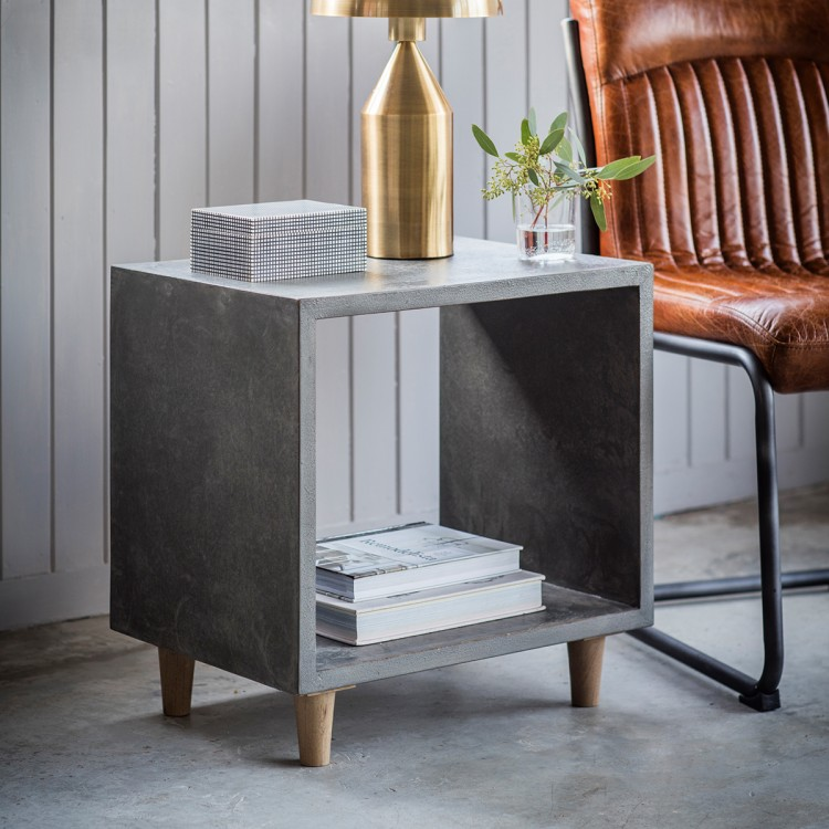 image-Concrete effect side table