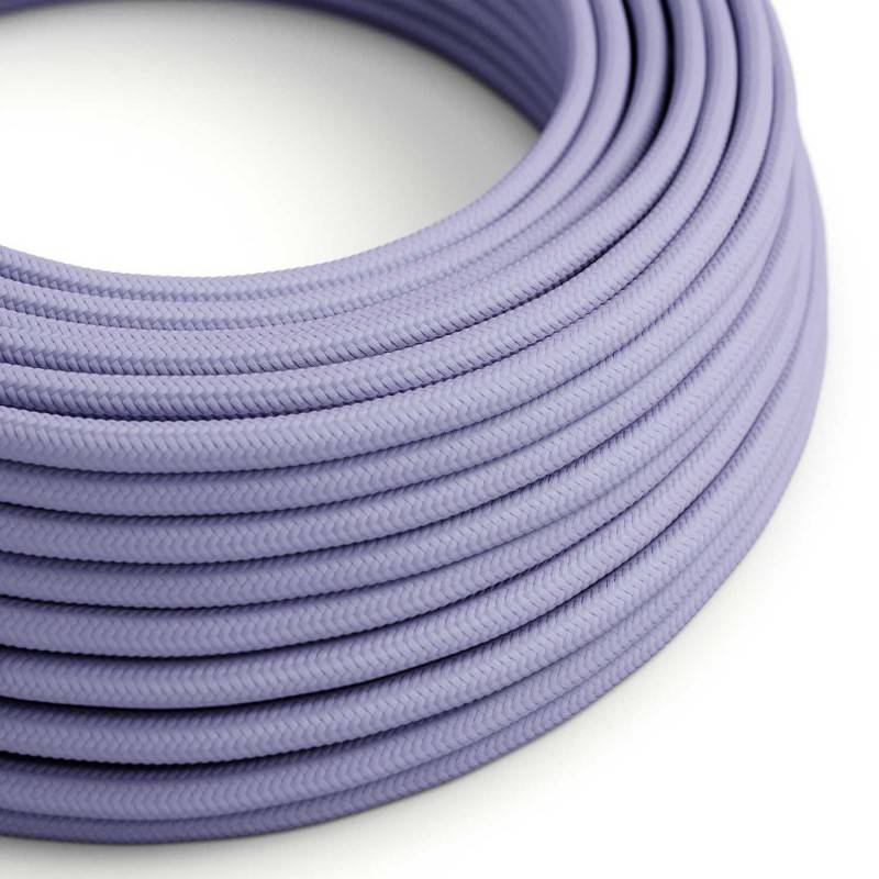 image-Round Lilac fabric cable