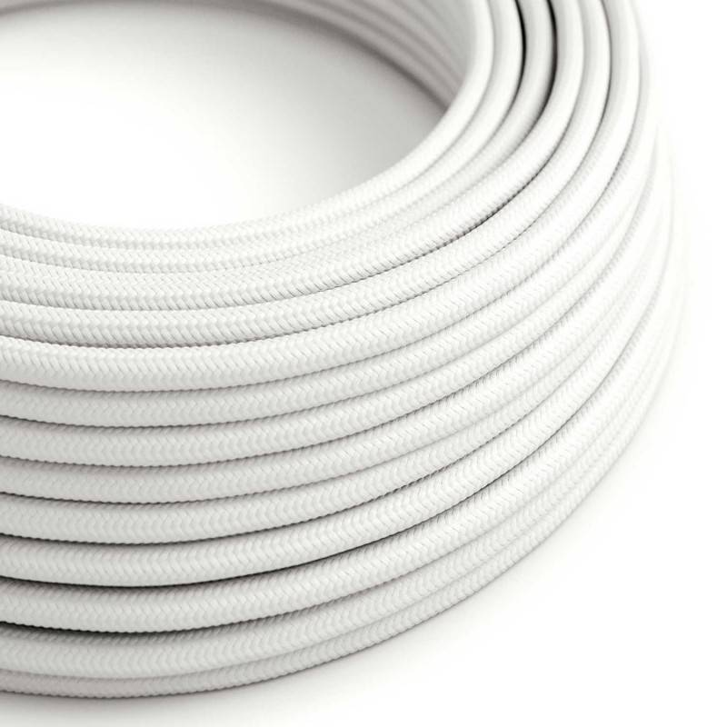 image-Round White fabric cable
