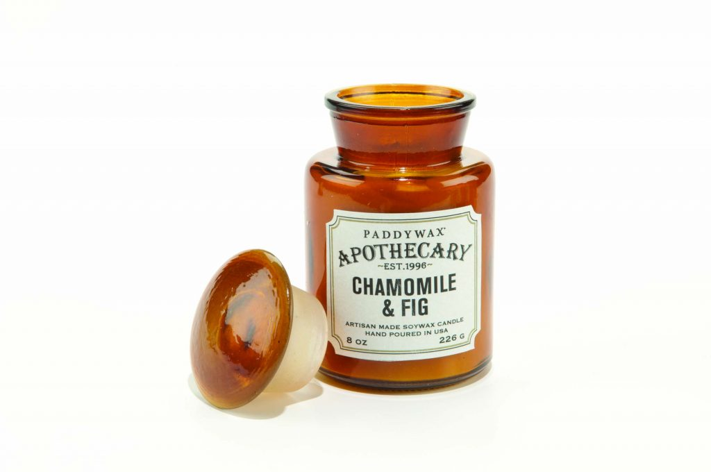 image-Apothecary Farmouse 8oz Glass Candle -   Chamomile & Fig