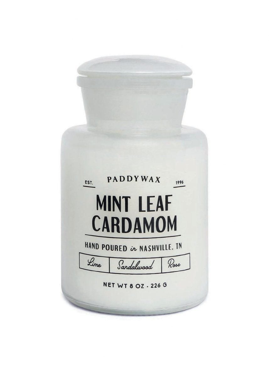 image-Apothecary Farmouse 8oz Glass Candle - Mint Leaf & Cardamon