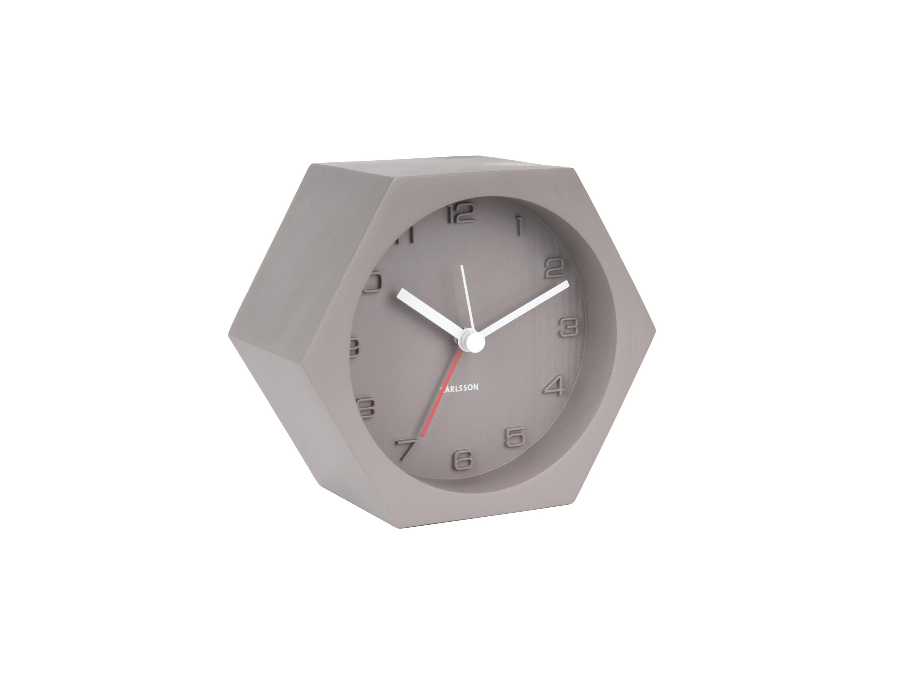 image-Hexagonal Concrete Alarm Clock